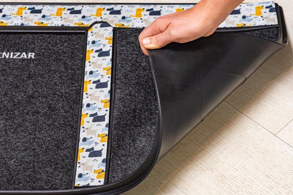 Tapete Sanitizante / Higienizador de calçados em Borracha -  Floral