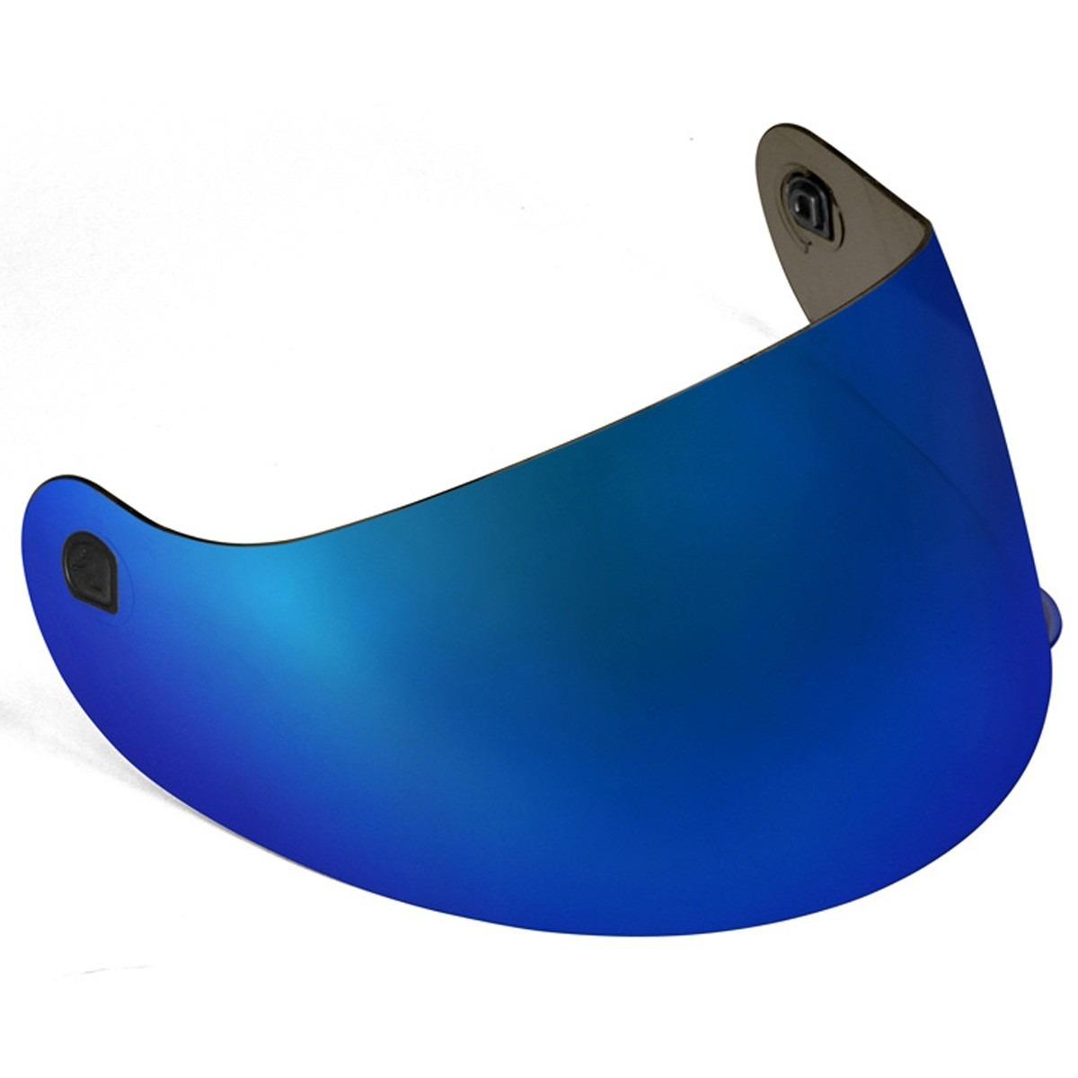 Viseira Azul Metalizada para Capacetes Peels Spike