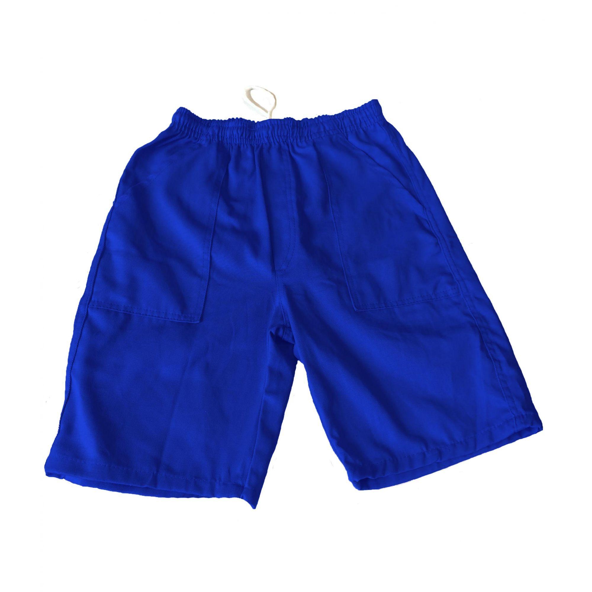 Bermuda Brim Profissional Azul Royal 100% Algodão