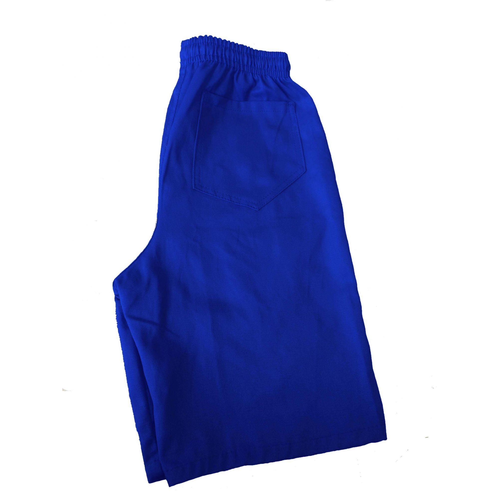 Bermuda Brim Azul Royal 100% Algodão