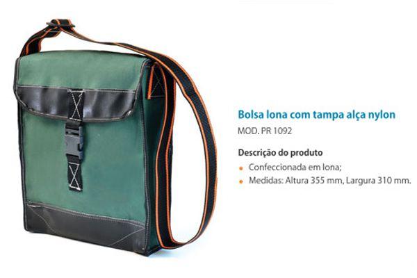 Bolsa em Lona com Tampa e Alça em Nylon Mod. PR 1092