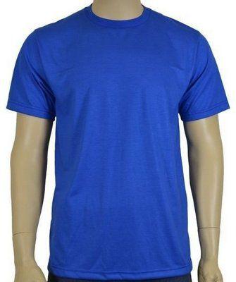 Camisa de Malha Gola Careca Azul Royal