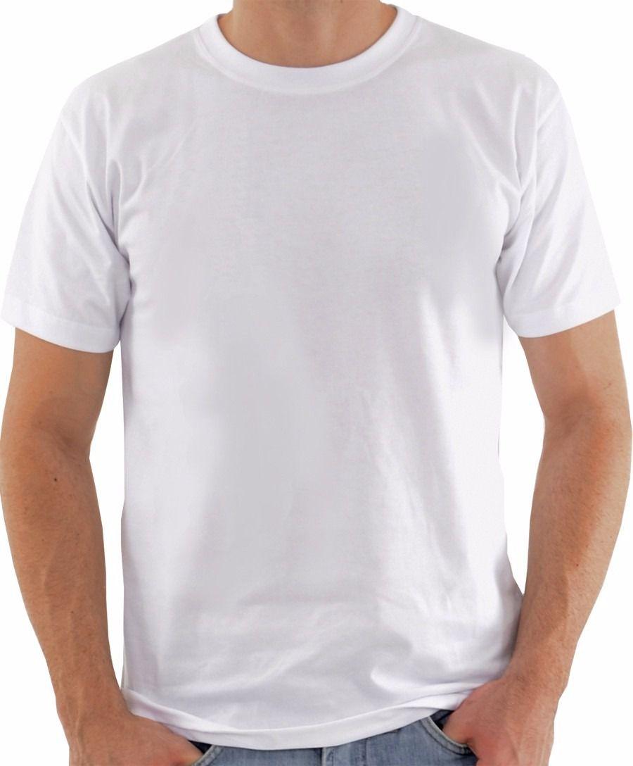 Camisa de Malha Gola Careca Branca