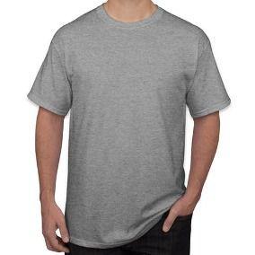Camisa de Malha Gola Careca Cinza