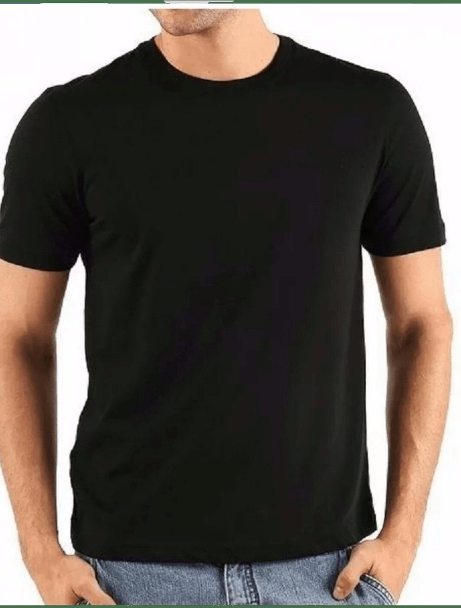 Camisa de Malha Gola Careca Preta