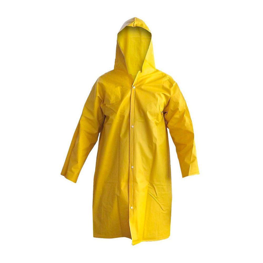 Capa de Chuva Forrada Amarela CA 39066 - Solda Capa