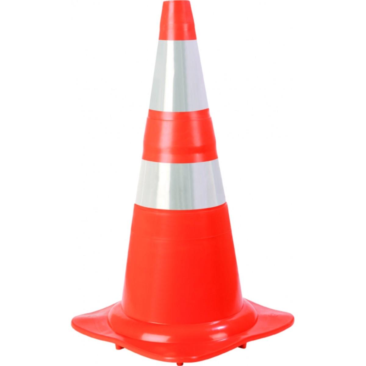 Cone Flexível de PVC LR/BR 75CM - Plastcor