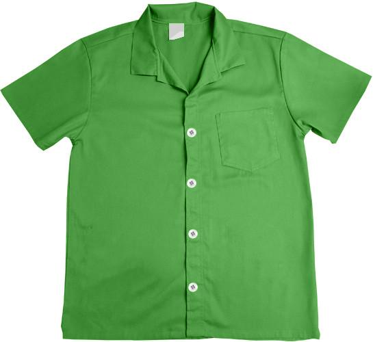 Jaleco de Brim Verde Bandeira 100% Algodão Manga Curta
