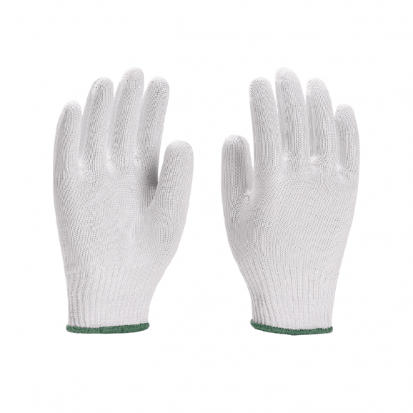 Luva Tricotada Anti Corte Branca 1 Fio de Aço CA 32765 - Yeling