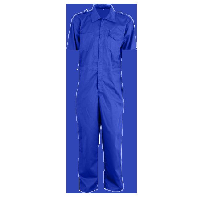 Macacão de Brim Azul 100% Algodão Manga Curta