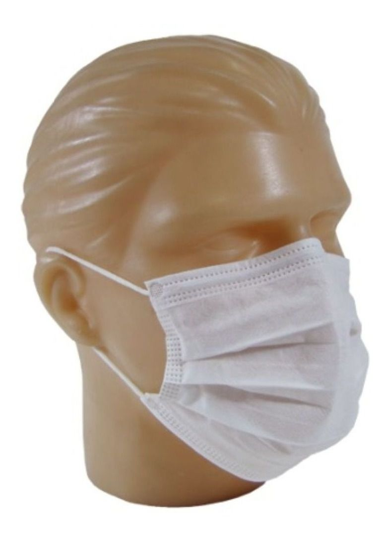 Máscara Descartável TNT Camada Dupla com Elástico - Pacote com 10 Unidades