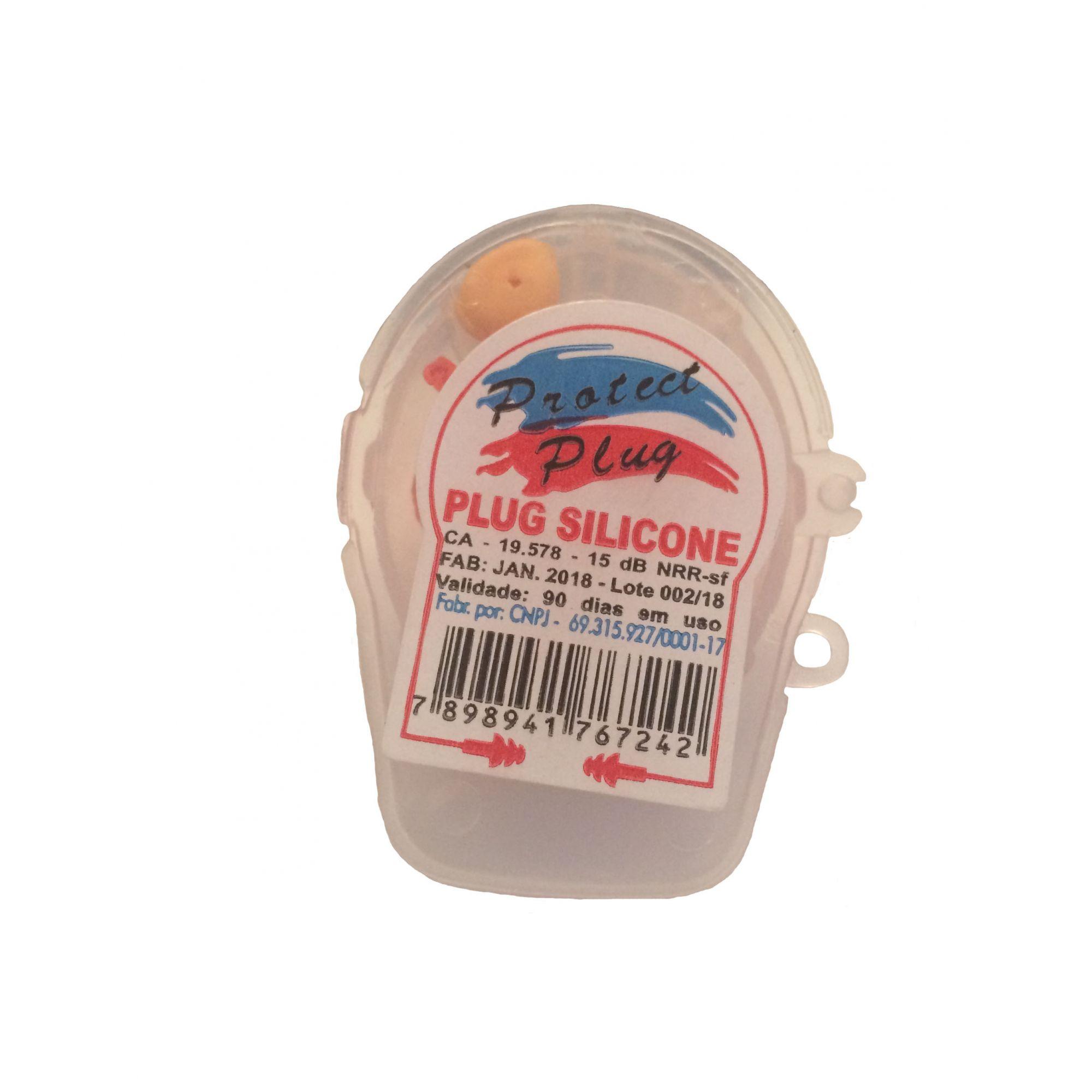 Protetor Auricular de Silicone 15dB em Embalagem de Capacete CA 19578 - Veaj Plast