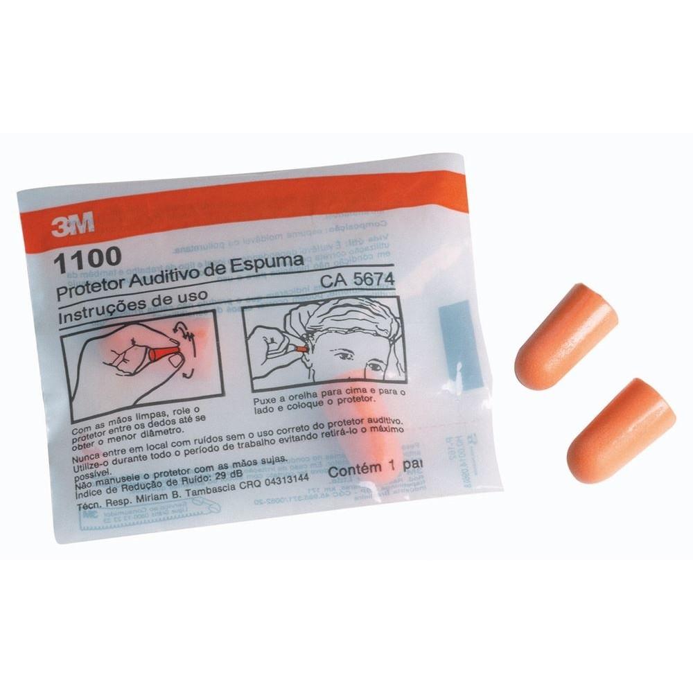 Protetor Auricular Espuma S/ Cordão 1100 CA 5674 - 3M