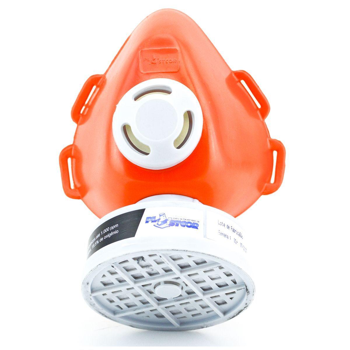 Respirador 1/4 Facial com Filtro VO+GA - Plastcor