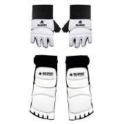 Conjunto luvas e protetores de pé (meia - botinha) para Taekwondo c87eac76014d6
