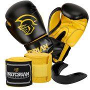 Kit Completo Luvas de Boxe, Muay Thai, Kickboxing, Mma da Pretorian