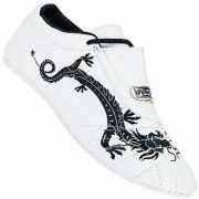 Sapatilha Punch 'The Dragon' para Taekwondo, Kung Fu, Karatê (branca)