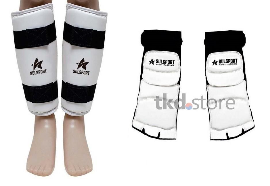 Caneleira + protetor de pé para Taekwondo (SulSport)