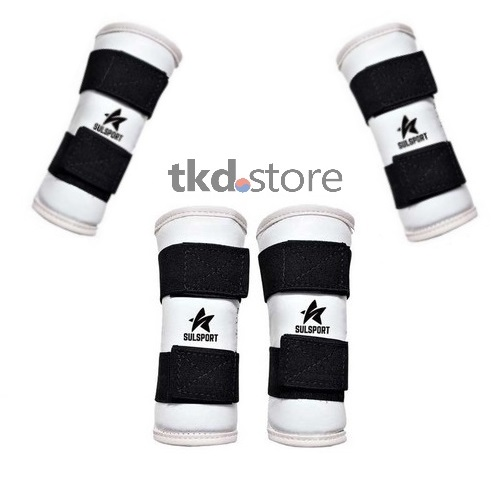 Contjunto caneleiras + protetor de ante-braço para Taekwondo