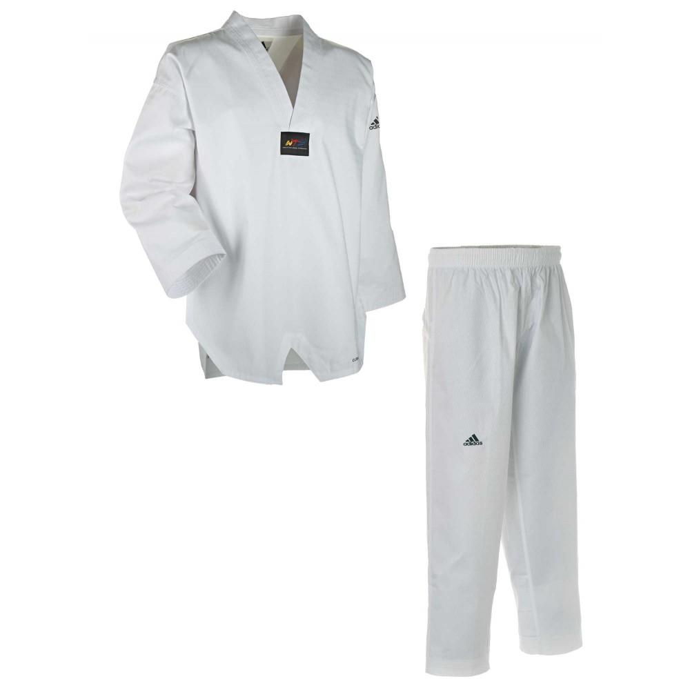 Dobok Adidas Adichamp 3 gola branca Clima Cool