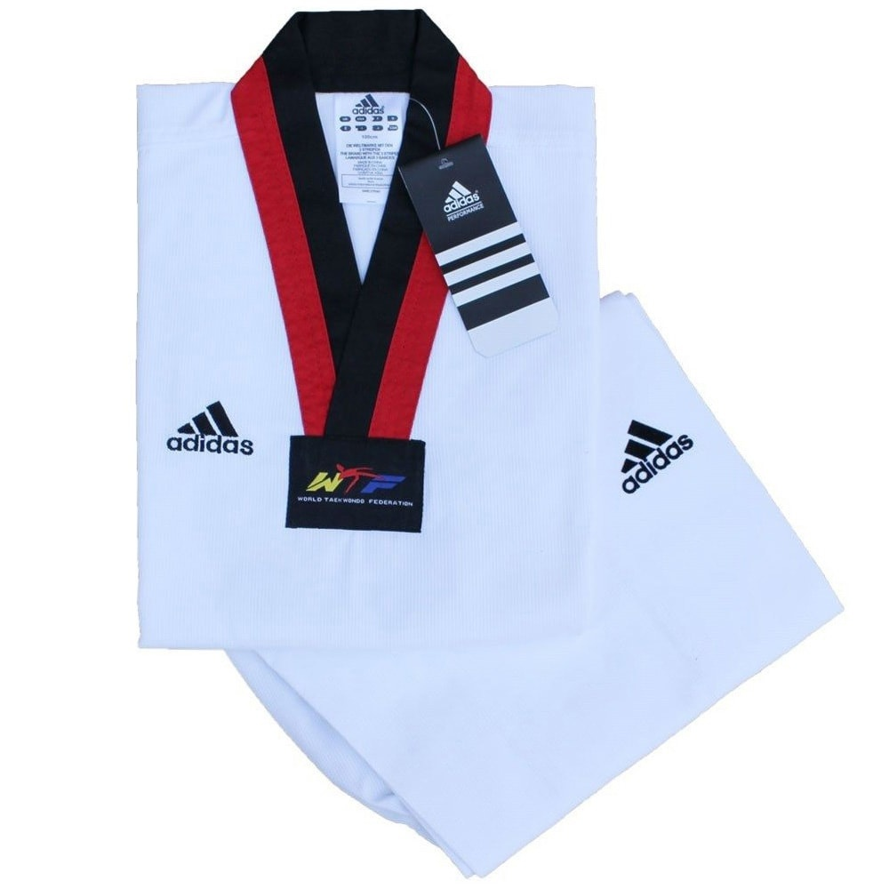 Dobok Adidas AdiChampion II (gola vermelha)