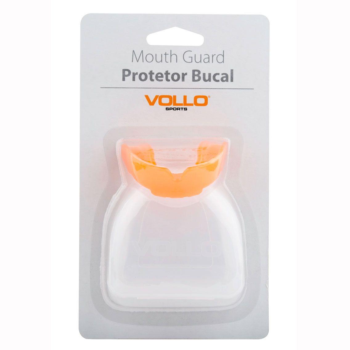 Protetor Bucal Vollo com Estojo (laranja)