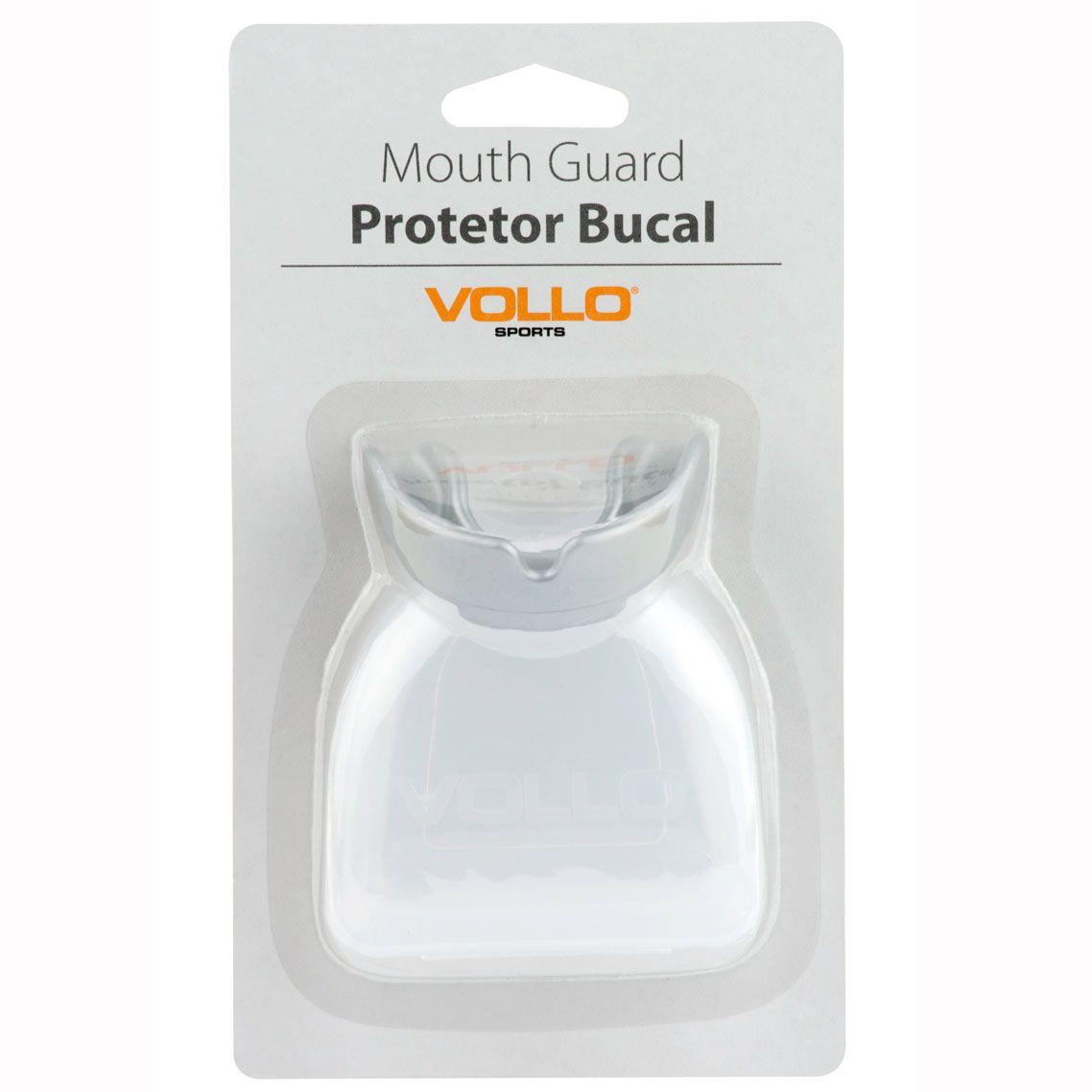 Protetor Bucal Vollo com estojo (prata)