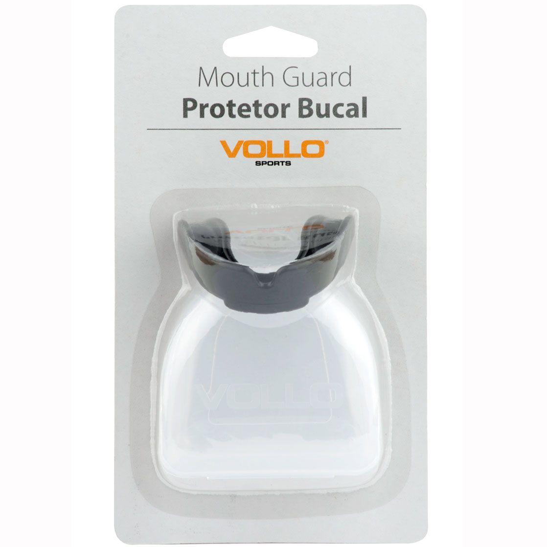 Protetor Bucal Vollo com estojo (preto)