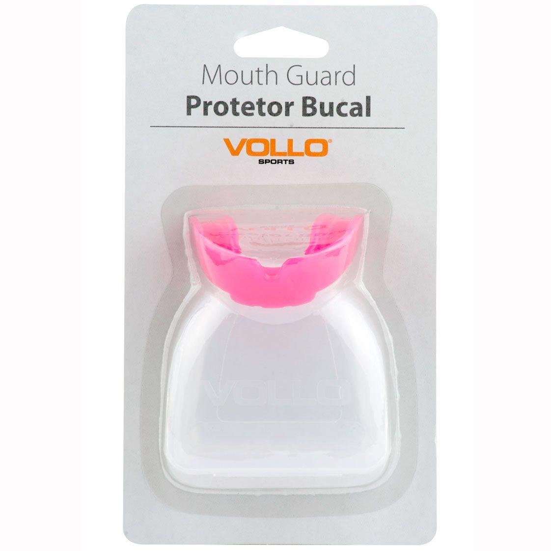Protetor Bucal Vollo com estojo (rosa)