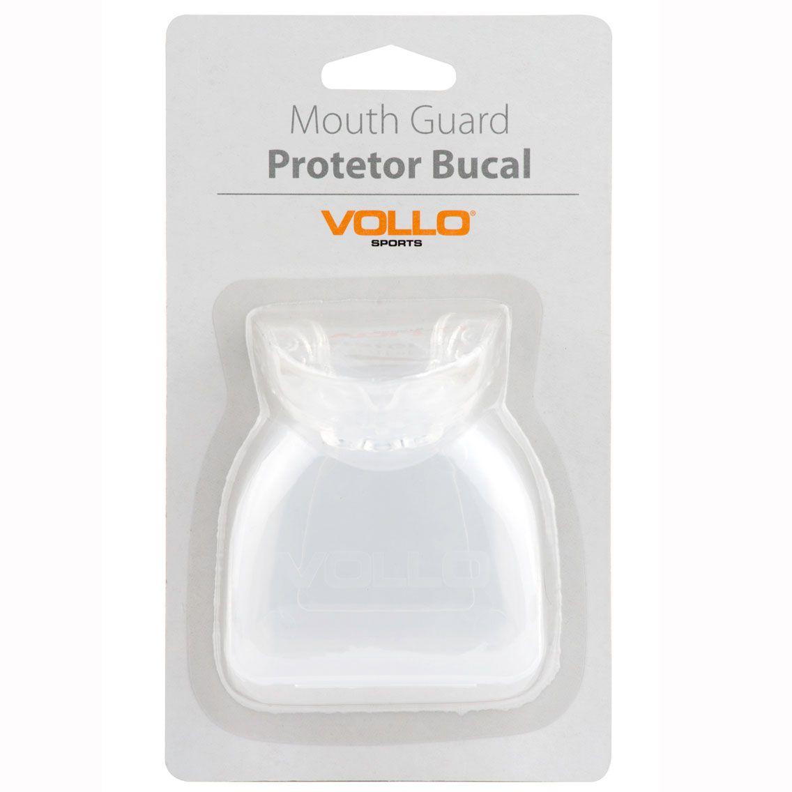 Protetor Bucal Vollo com Estojo (transparente)