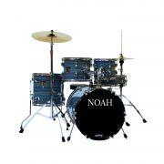 Bateria Acústica Noah Sc5 Bumbo 16 Completa Funny Striped
