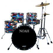 Bateria Acústica Noah Sc5 Bumbo 16 Completa Playground