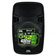Caixa De Som Ativa Pro Bass Street 12 Bluetooth 400w Rms Com Bateria