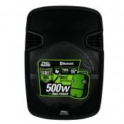 Caixa De Som Ativa Pro Bass Street 15 Bluetooth 500w Rms Com Bateria