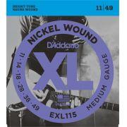 Encordoamento Daddario Guitarra 0.011 Exl115b + Mi Extra