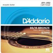 Encordoamento Violao Aco Daddario Ez910 + Mi Extra 0.11