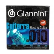 Encordoamento Guitarra Giannini Geegst10 0.10