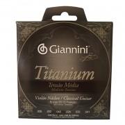 Encordoamento Giannini Violao Titanium Genwtm