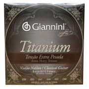Encordoamento Violao Nylon Giannini Titanium Genwxta Extra Pesada