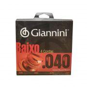 Encordoamento para Baixo 4 Cordas Giannini 0.040 Geebrl