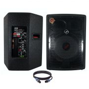Kit Caixa de Som Ativa Passiva Leacs Fit320a Fit320 350w Rms Falante 12
