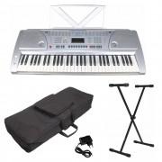 Kit Teclado Musical 5/8 Csr 2172 + Suporte Capa