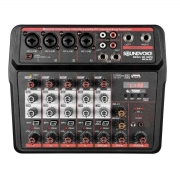 Mesa De Som 6 Canais Soundvoice Mc6Bt Efeito Usb