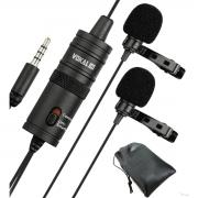 Microfone Lapela Vokal Slm20 Duplo