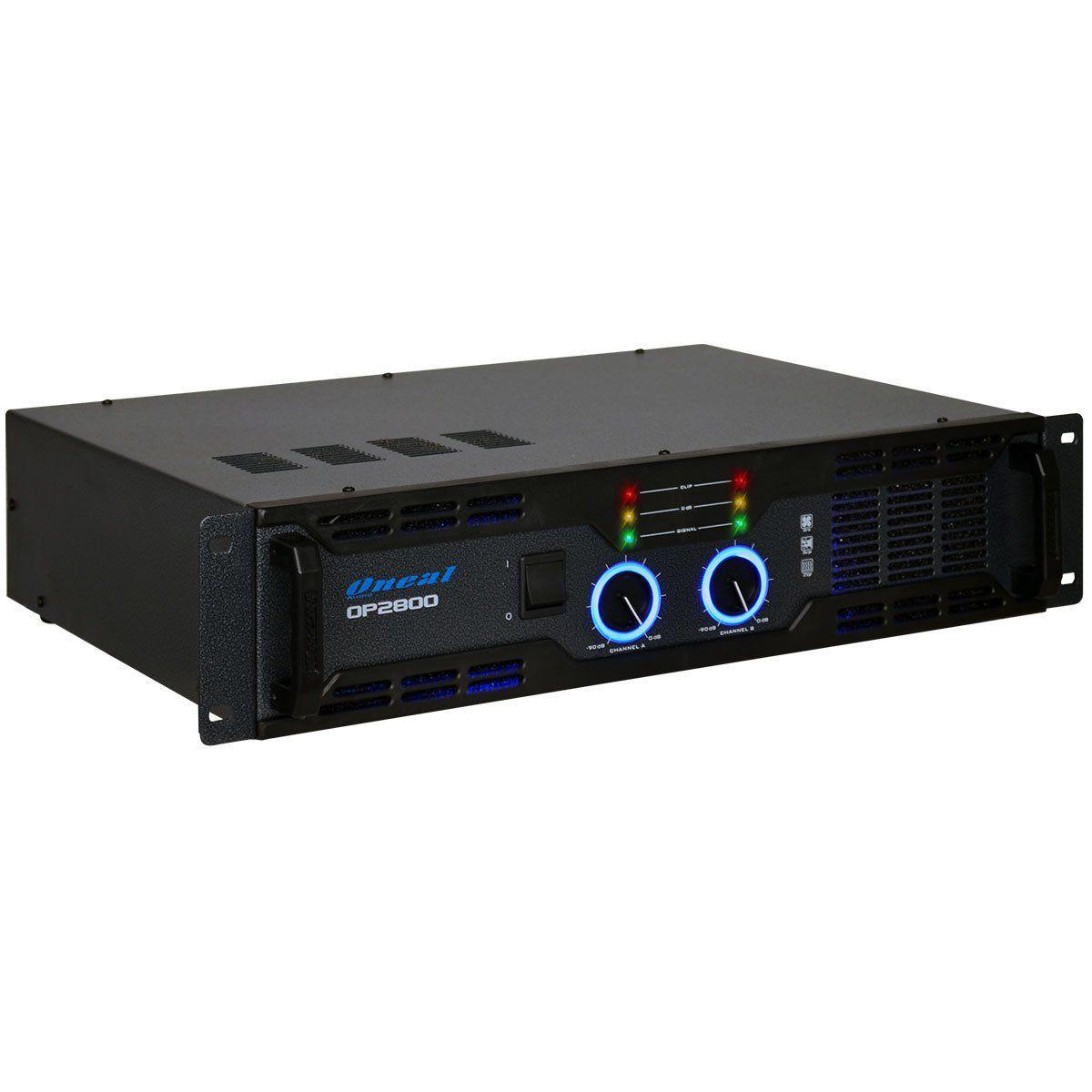 Amplificador De Potencia Oneal Op2800 500W Rms