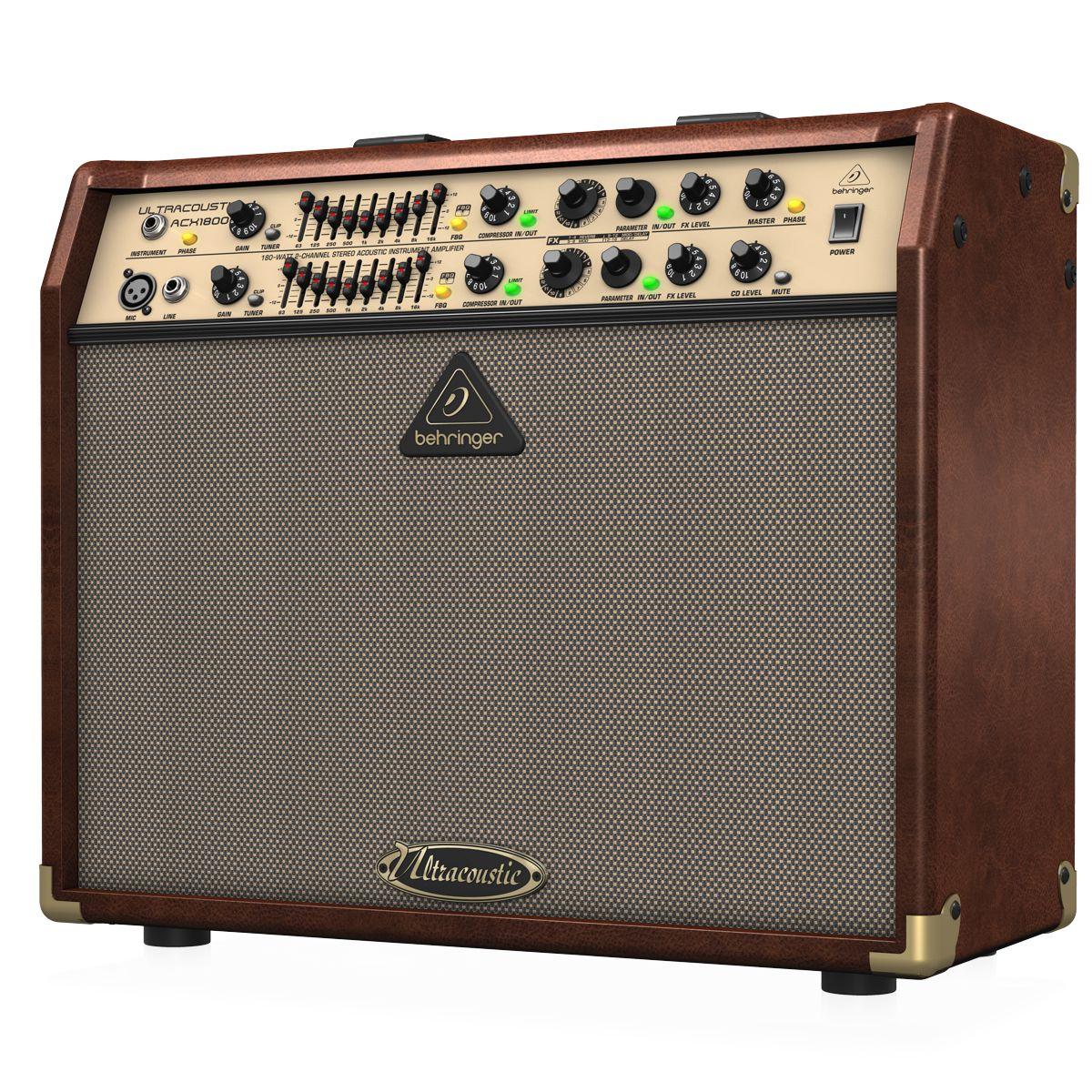 Amplificador Para Violão e Voz Behringer Acx1800 180w Rms 110v