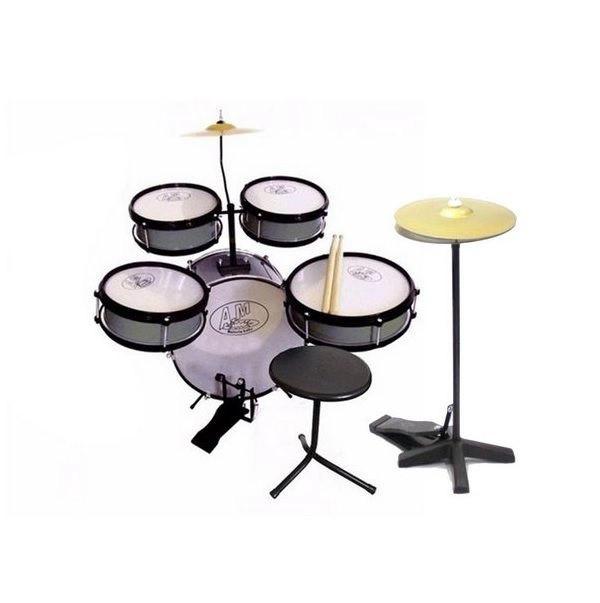 Bateria Acústica Infantil Rock Baby Am2 Com Chimbal Completa