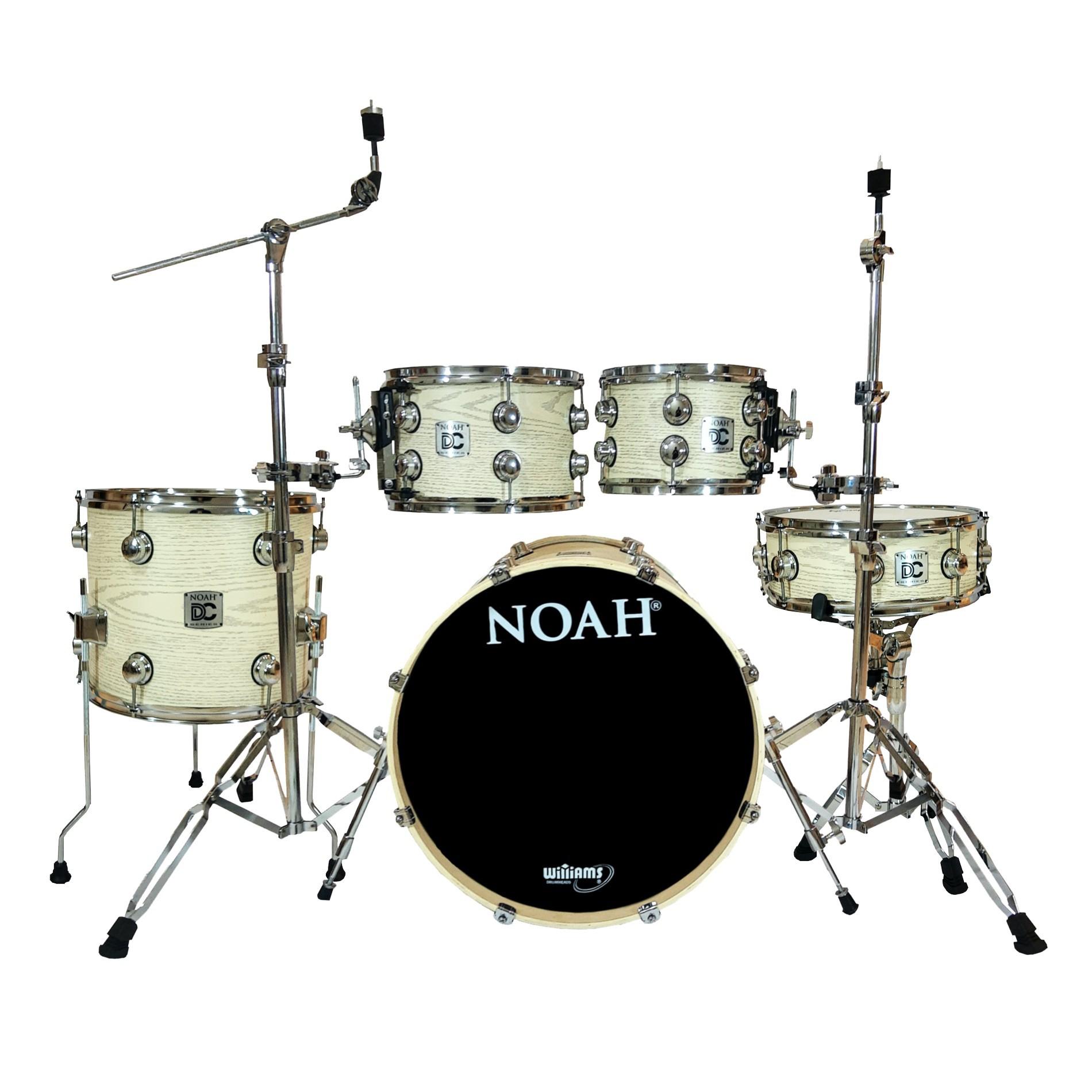 Bateria Acústica Noah Dc5 Bumbo 20 Completa White Cloud