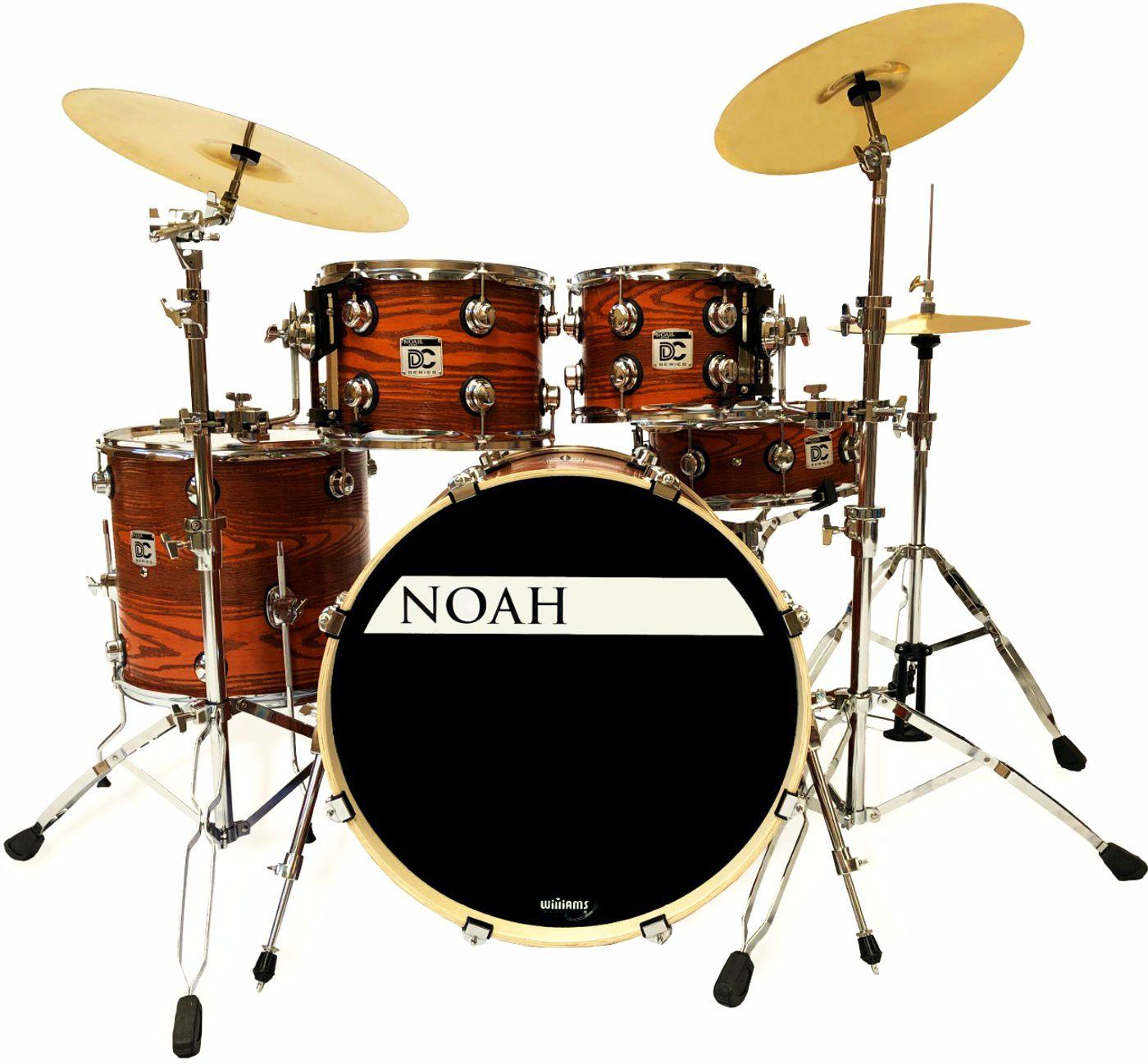 Bateria Acústica Noah Dc5 Bumbo 22 Completa Red Cedar