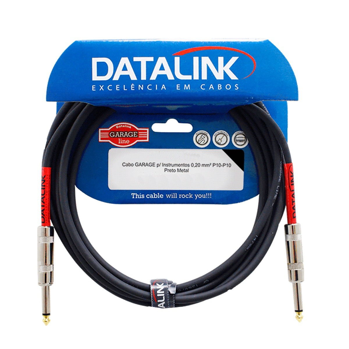 Cabo P10 P10 Para Instrumento Datalink Garage 10m